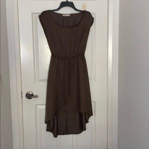 Dark olive midi/ high low dress